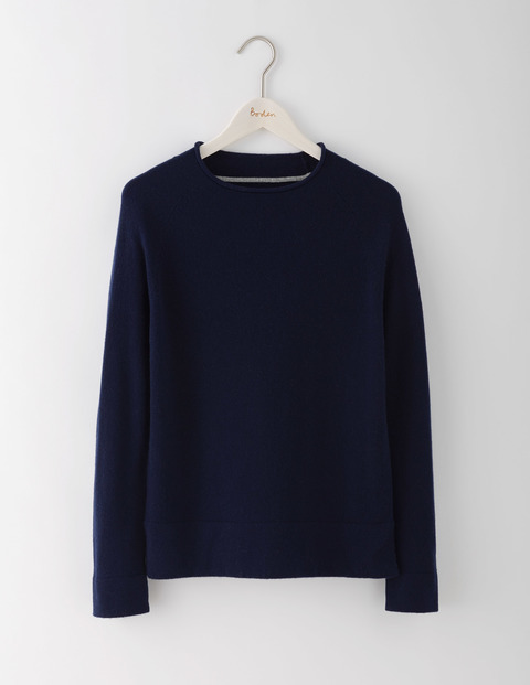 Supersoft Jumper Navy Women, Navy - pattern: plain; style: standard; predominant colour: navy; occasions: casual; length: standard; fibres: cotton - mix; fit: standard fit; neckline: crew; sleeve length: long sleeve; sleeve style: standard; texture group: knits/crochet; pattern type: knitted - fine stitch; wardrobe: basic; season: a/w 2016
