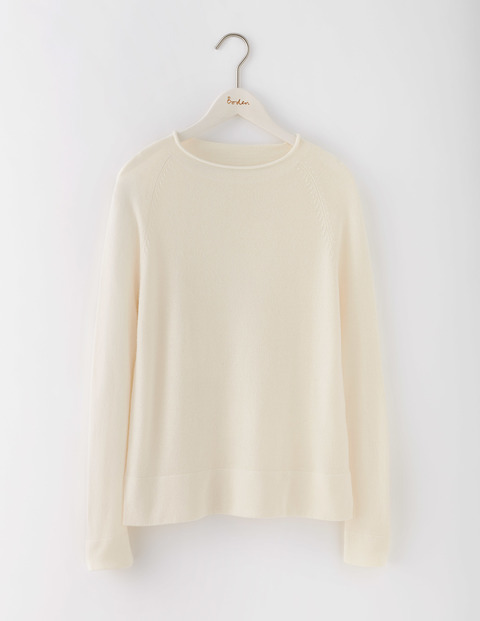 Supersoft Jumper Ivory Women, Ivory - neckline: round neck; pattern: plain; style: standard; predominant colour: ivory/cream; occasions: casual, work, creative work; length: standard; fit: standard fit; fibres: cashmere - 100%; sleeve length: long sleeve; sleeve style: standard; texture group: knits/crochet; pattern type: knitted - fine stitch; wardrobe: investment; season: a/w 2016