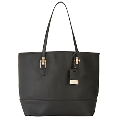 Scratchy Tote Bag - predominant colour: black; occasions: casual, work, creative work; type of pattern: standard; style: tote; length: shoulder (tucks under arm); size: standard; material: faux leather; pattern: plain; finish: plain; wardrobe: investment; season: a/w 2016