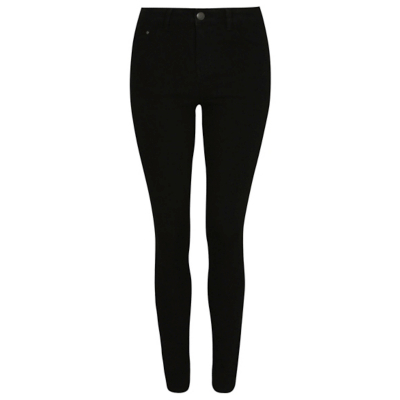 Skinny Jeans Black - style: skinny leg; length: standard; pattern: plain; pocket detail: traditional 5 pocket; waist: mid/regular rise; predominant colour: black; occasions: casual, evening, creative work; fibres: cotton - stretch; texture group: denim; pattern type: fabric; season: a/w 2016