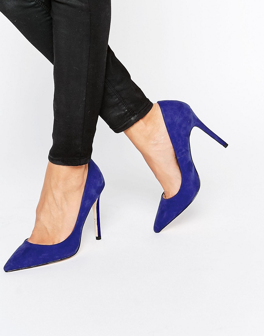Chloe Court Shoes Blue - predominant colour: royal blue; occasions: evening, occasion, creative work; material: suede; heel: stiletto; toe: pointed toe; style: courts; finish: plain; pattern: plain; heel height: very high; season: a/w 2016