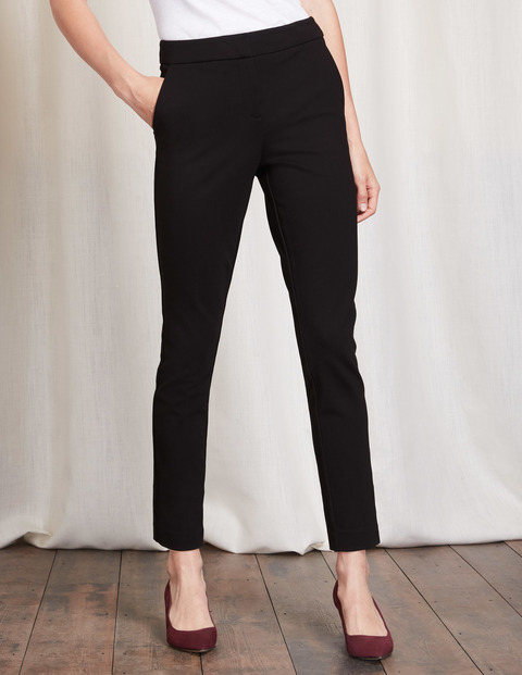 Hampshire 7/8 Trousers Black Women, Black - pattern: plain; waist: high rise; predominant colour: black; occasions: work; length: ankle length; fibres: cotton - mix; waist detail: narrow waistband; texture group: cotton feel fabrics; fit: slim leg; pattern type: fabric; style: standard; season: a/w 2016