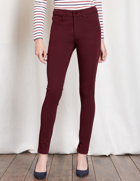 Portobello Bi Stretch Jean Burgundy Women, Burgundy - style: skinny leg; length: standard; pattern: plain; waist: high rise; predominant colour: burgundy; occasions: casual, creative work; fibres: cotton - stretch; texture group: denim; pattern type: fabric; season: a/w 2016