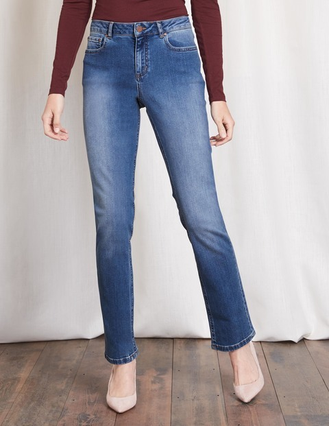 Trafalgar Straight Leg Jeans Vintage Women, Vintage - style: straight leg; length: standard; pattern: plain; waist: high rise; pocket detail: traditional 5 pocket; predominant colour: denim; occasions: casual; fibres: cotton - stretch; jeans detail: shading down centre of thigh; texture group: denim; pattern type: fabric; wardrobe: basic; season: a/w 2016