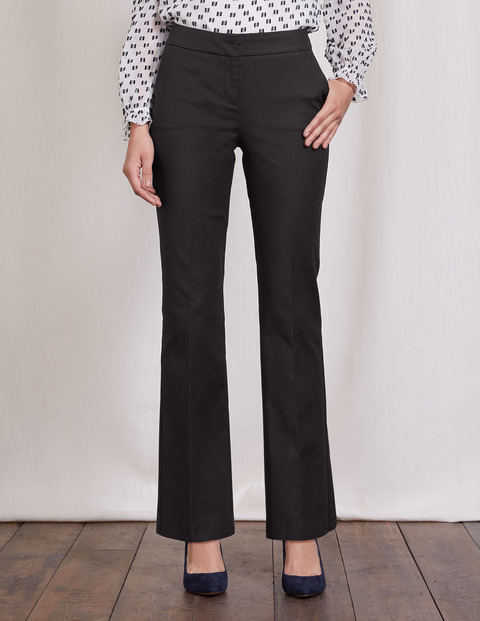 Richmond Bootcut Trousers Black Women, Black - length: standard; pattern: plain; waist: mid/regular rise; predominant colour: black; occasions: work; fibres: cotton - 100%; waist detail: feature waist detail; texture group: cotton feel fabrics; fit: bootcut; pattern type: fabric; style: standard; wardrobe: basic; season: a/w 2016