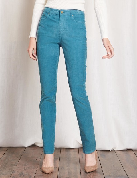Soho Skinny Blue Cord Women, Blue Cord - style: skinny leg; length: standard; pattern: plain; waist: high rise; pocket detail: traditional 5 pocket; predominant colour: denim; occasions: casual, creative work; fibres: cotton - stretch; texture group: corduroy; pattern type: fabric; season: a/w 2016; wardrobe: highlight