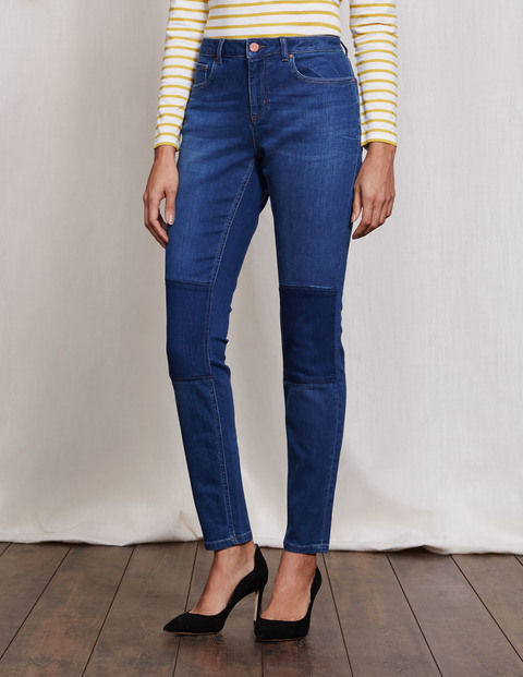 Soho Skinny Jeans Panelled Women, Panelled - style: skinny leg; length: standard; pattern: plain; waist: high rise; pocket detail: traditional 5 pocket; predominant colour: navy; occasions: casual; fibres: cotton - stretch; jeans detail: dark wash; pattern type: fabric; texture group: sheepskin; season: a/w 2016; wardrobe: highlight