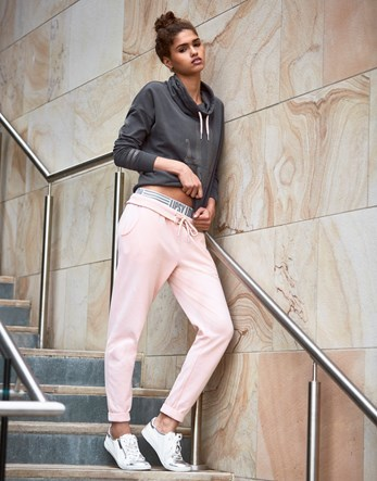 Cuff Joggers - length: standard; pattern: plain; style: tracksuit pants; waist detail: belted waist/tie at waist/drawstring; waist: mid/regular rise; predominant colour: nude; occasions: casual; fibres: cotton - stretch; fit: tapered; pattern type: fabric; texture group: jersey - stretchy/drapey; season: a/w 2016