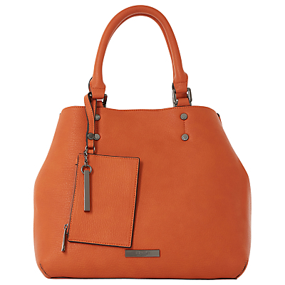 Dibby Small Shopper Bag - predominant colour: bright orange; occasions: casual, work, creative work; type of pattern: standard; style: tote; length: handle; size: standard; material: leather; pattern: plain; finish: plain; season: s/s 2016; wardrobe: highlight