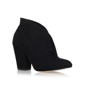 Tamra - predominant colour: black; occasions: casual, creative work; material: suede; heel height: high; heel: block; toe: pointed toe; boot length: ankle boot; style: standard; finish: plain; pattern: plain; season: a/w 2016; wardrobe: highlight