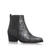 Strummer - predominant colour: mid grey; occasions: casual, creative work; material: leather; heel height: mid; heel: block; toe: round toe; boot length: ankle boot; style: standard; finish: plain; pattern: plain; wardrobe: basic; season: a/w 2016