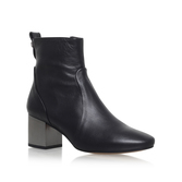 Strudel - predominant colour: black; occasions: casual, creative work; material: leather; heel height: mid; heel: block; toe: round toe; boot length: ankle boot; style: standard; finish: plain; pattern: plain; wardrobe: basic; season: a/w 2016