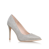 Beauty - predominant colour: light grey; occasions: evening, occasion, creative work; material: leather; heel height: high; heel: stiletto; toe: pointed toe; style: courts; finish: plain; pattern: plain; wardrobe: investment; season: a/w 2016