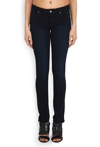 Skyline Skinny Jean In Tonal Mona - style: skinny leg; length: standard; pattern: plain; pocket detail: traditional 5 pocket; waist: mid/regular rise; predominant colour: black; occasions: casual; fibres: cotton - stretch; texture group: denim; pattern type: fabric; wardrobe: basic; season: a/w 2016