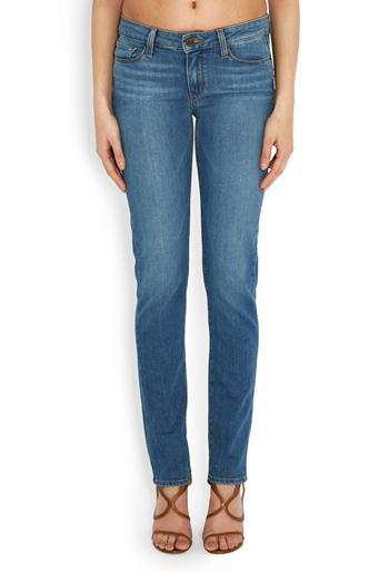 Skyline Skinny Jean In Tessie - style: skinny leg; length: standard; pattern: plain; pocket detail: traditional 5 pocket; waist: mid/regular rise; predominant colour: denim; occasions: casual; fibres: cotton - stretch; jeans detail: whiskering; texture group: denim; pattern type: fabric; season: a/w 2016