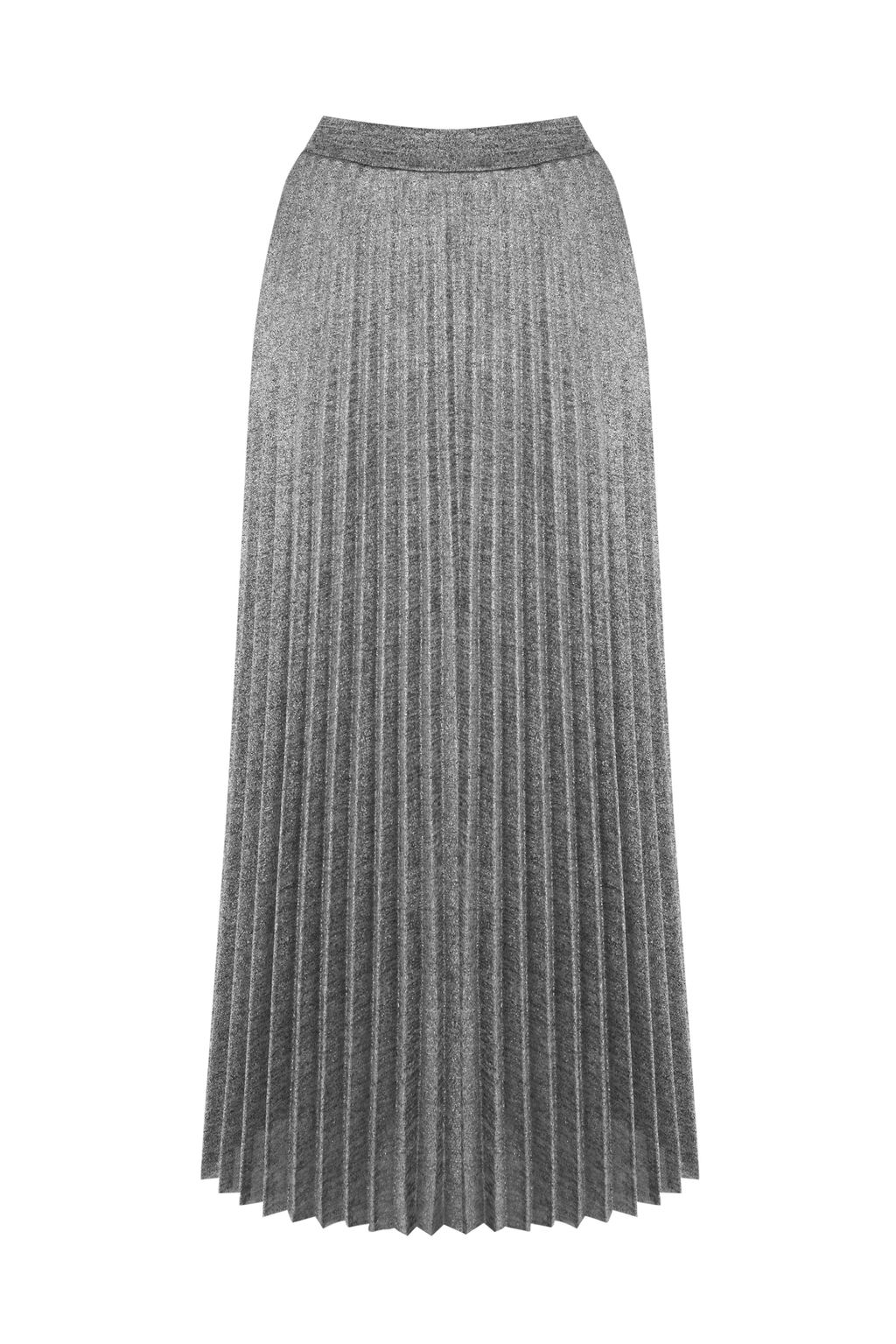 Metallic Pleated Skirt, Silver - length: calf length; pattern: plain; fit: loose/voluminous; style: pleated; waist: high rise; fibres: polyester/polyamide - 100%; occasions: occasion, creative work; pattern type: fabric; texture group: other - light to midweight; predominant colour: pewter; season: a/w 2016; wardrobe: highlight
