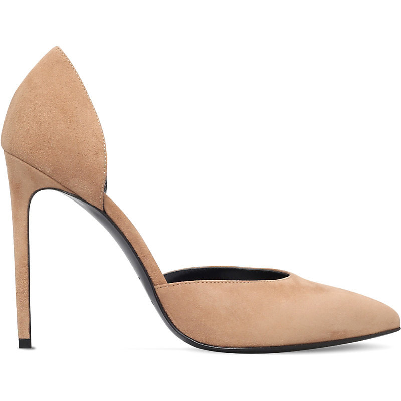 Paris Skinny D'orsay Suede Courts, Women's, Eur 38 / 5 Uk Women, Beige - predominant colour: camel; occasions: evening, occasion, creative work; material: suede; heel: stiletto; toe: round toe; style: courts; finish: plain; pattern: plain; heel height: very high; season: a/w 2016; wardrobe: highlight