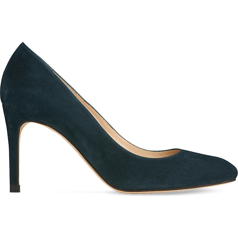 Sasha Suede Court Shoes, Women's, Eur 36 / 3 Uk Women, Gre Evergreen - predominant colour: navy; occasions: evening, work, creative work; material: suede; heel: stiletto; toe: round toe; style: courts; finish: plain; pattern: plain; heel height: very high; season: a/w 2016; wardrobe: highlight