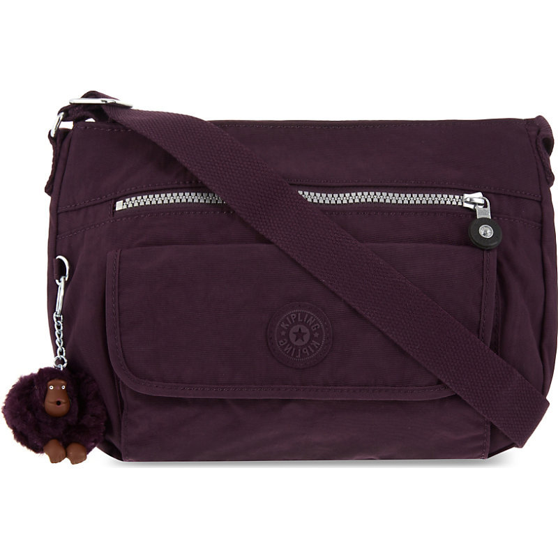 Syro Nylon Shoulder Bag, Women's, Plum Purple - predominant colour: purple; occasions: casual, creative work; type of pattern: standard; style: shoulder; length: shoulder (tucks under arm); size: standard; material: suede; pattern: plain; finish: plain; season: a/w 2016; wardrobe: highlight