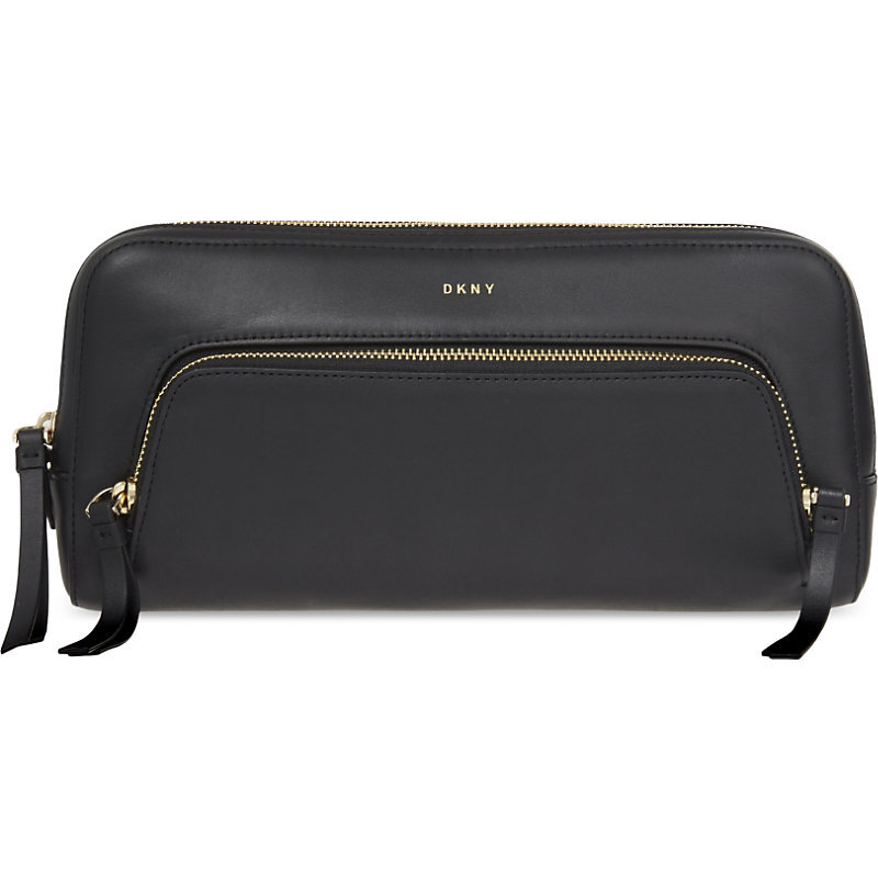 Greenwich Leather Clutch, Women's, Black - predominant colour: black; occasions: evening, occasion; type of pattern: standard; style: clutch; length: hand carry; size: standard; material: leather; pattern: plain; finish: plain; season: a/w 2016