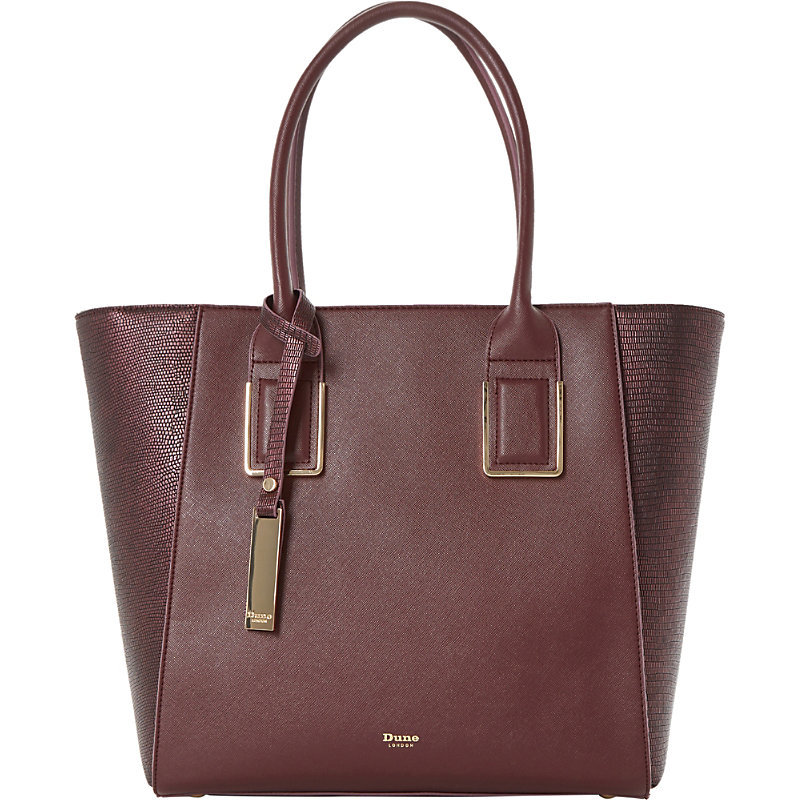 Damazing Faux Leather Winged Shopper Bag, Women's, Maroon - predominant colour: burgundy; occasions: casual, creative work; type of pattern: standard; style: tote; length: handle; size: standard; material: faux leather; pattern: plain; finish: plain; season: a/w 2016