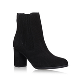 Samuel - predominant colour: black; occasions: casual; material: suede; heel height: mid; heel: block; toe: round toe; boot length: ankle boot; style: standard; finish: plain; pattern: plain; wardrobe: basic; season: a/w 2016