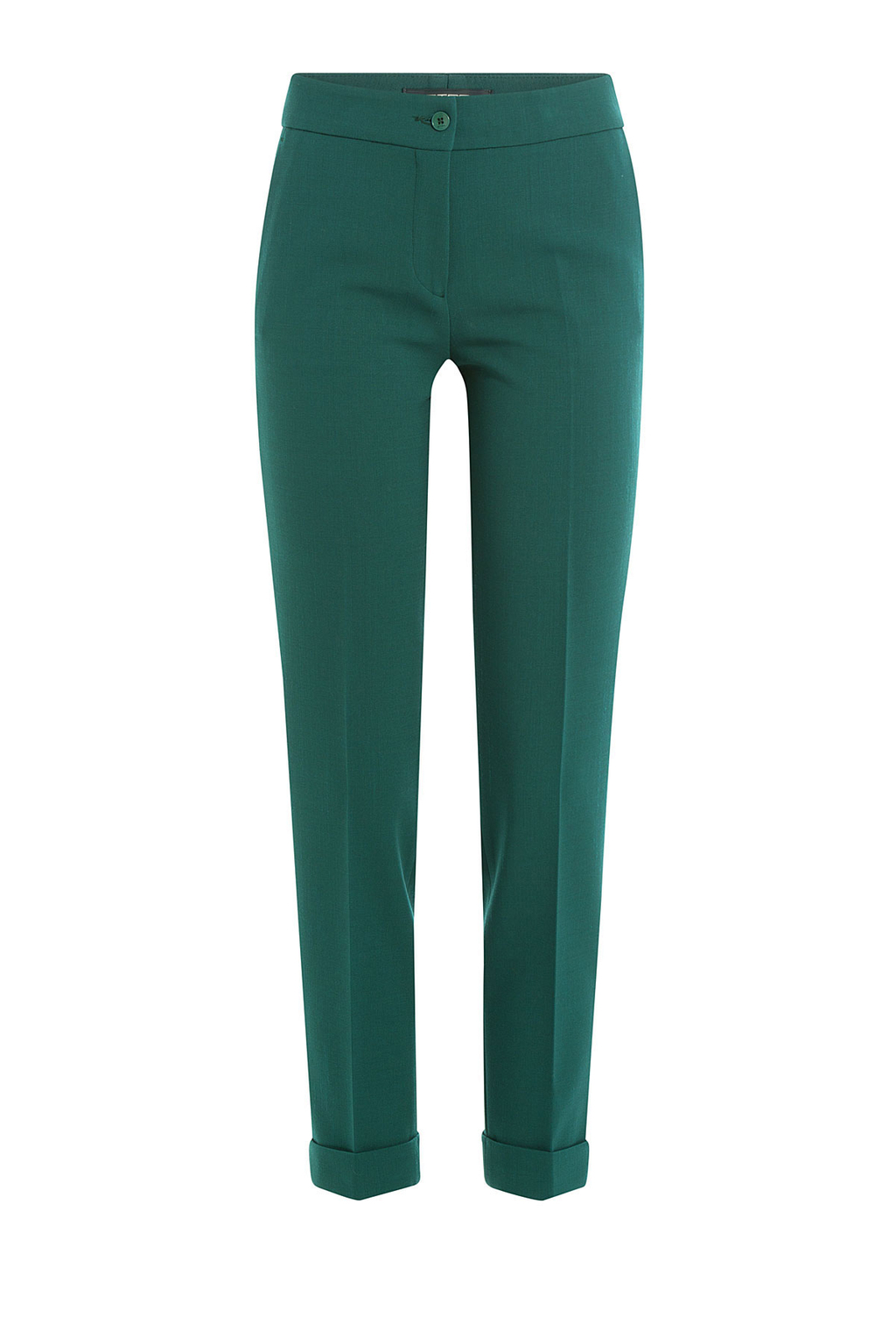 Wool Pants - length: standard; pattern: plain; waist: mid/regular rise; predominant colour: dark green; fibres: wool - mix; fit: slim leg; pattern type: fabric; texture group: woven light midweight; style: standard; occasions: creative work; season: a/w 2016; wardrobe: highlight