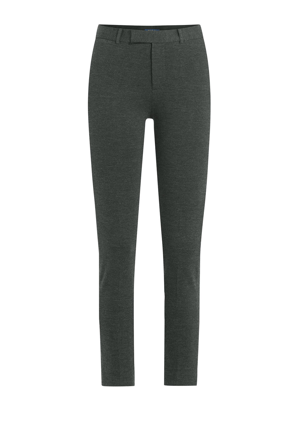 Cropped Slim Pants Black - length: standard; pattern: plain; waist: mid/regular rise; predominant colour: charcoal; occasions: work; fibres: viscose/rayon - stretch; fit: slim leg; pattern type: fabric; texture group: woven light midweight; style: standard; wardrobe: basic; season: a/w 2016