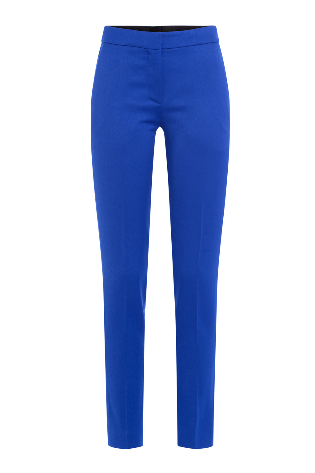 Virgin Wool Pants - length: standard; pattern: plain; waist: mid/regular rise; predominant colour: royal blue; occasions: work; fibres: wool - 100%; hip detail: subtle/flattering hip detail; texture group: cotton feel fabrics; fit: slim leg; pattern type: fabric; style: standard; season: a/w 2016; wardrobe: highlight