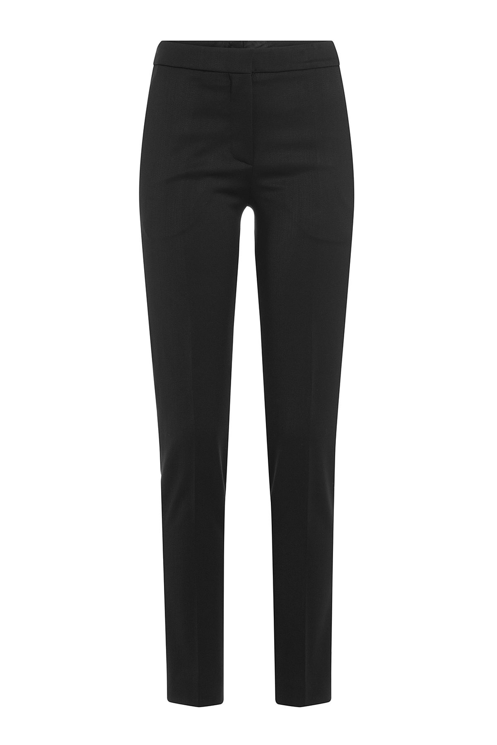 Virgin Wool Pants - length: standard; pattern: plain; waist: mid/regular rise; predominant colour: black; occasions: work; fibres: wool - 100%; fit: straight leg; pattern type: fabric; texture group: woven light midweight; style: standard; wardrobe: basic; season: a/w 2016