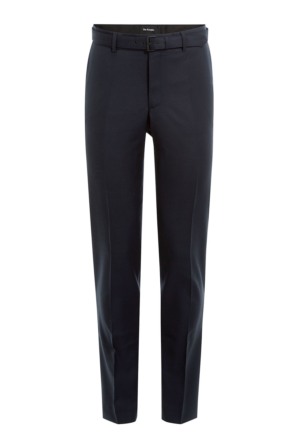 Wool Pants - length: standard; pattern: plain; waist: high rise; waist detail: belted waist/tie at waist/drawstring; predominant colour: navy; occasions: work; fibres: wool - stretch; fit: slim leg; pattern type: fabric; texture group: woven light midweight; style: standard; wardrobe: basic; season: a/w 2016