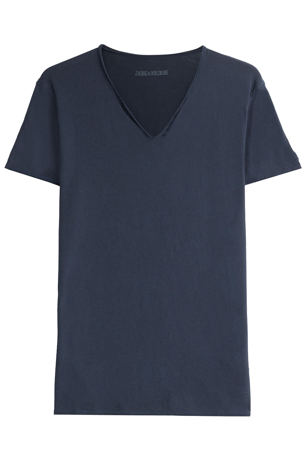 Monas Mc Overdyed T Shirt Blue - neckline: v-neck; pattern: plain; style: t-shirt; predominant colour: navy; occasions: casual; length: standard; fibres: cotton - 100%; fit: straight cut; sleeve length: short sleeve; sleeve style: standard; texture group: cotton feel fabrics; pattern type: fabric; season: a/w 2016