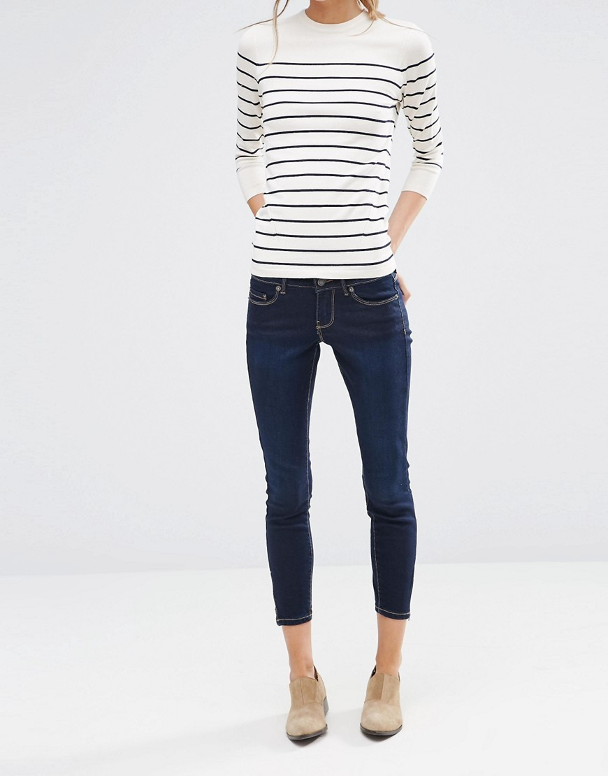 Skinny Ankle Jeans 30 Length Blue - style: skinny leg; length: standard; pattern: plain; pocket detail: traditional 5 pocket; waist: mid/regular rise; predominant colour: navy; occasions: casual; fibres: cotton - stretch; texture group: denim; pattern type: fabric; wardrobe: basic; season: a/w 2016