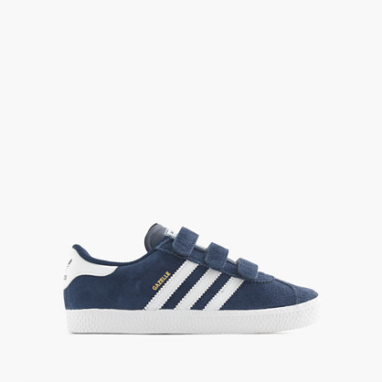 Kids' Adidas® Gazelle® Sneakers - secondary colour: white; predominant colour: navy; occasions: casual; material: suede; heel height: flat; toe: round toe; style: trainers; finish: plain; pattern: striped; multicoloured: multicoloured; season: a/w 2016; wardrobe: highlight