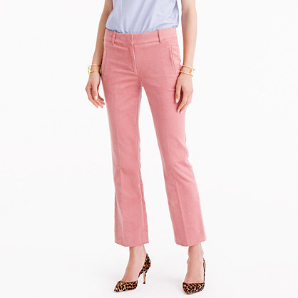 Petite Sammie Pant In Corduroy - length: standard; pattern: plain; waist: mid/regular rise; predominant colour: blush; occasions: casual; fibres: cotton - stretch; texture group: corduroy; fit: bootcut; pattern type: fabric; style: standard; wardrobe: basic; season: a/w 2016