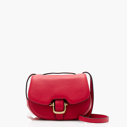 Mini Rider Bag In Italian Leather - predominant colour: true red; occasions: casual; type of pattern: standard; style: messenger; length: across body/long; size: small; material: leather; pattern: plain; finish: plain; season: a/w 2016