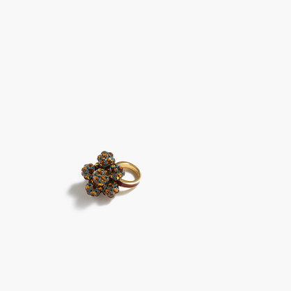 Crystal Bouquet Ring - secondary colour: emerald green; predominant colour: gold; occasions: evening; style: cocktail; size: standard; material: chain/metal; finish: metallic; embellishment: crystals/glass; multicoloured: multicoloured; season: a/w 2016; wardrobe: event