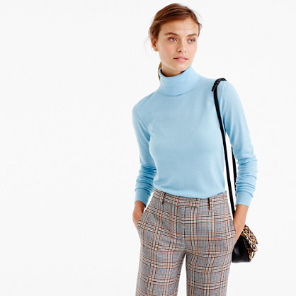 Tippi Turtleneck Sweater - pattern: plain; neckline: roll neck; style: standard; predominant colour: pale blue; occasions: casual; length: standard; fibres: wool - 100%; fit: slim fit; sleeve length: long sleeve; sleeve style: standard; texture group: knits/crochet; pattern type: fabric; season: a/w 2016; wardrobe: highlight