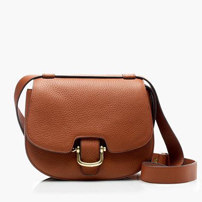 Rider Bag In Italian Leather - predominant colour: tan; occasions: casual; type of pattern: standard; style: messenger; length: across body/long; size: small; material: leather; pattern: plain; finish: plain; season: a/w 2016; wardrobe: highlight