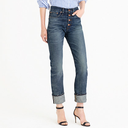 Point Sur Carrie Selvedge Jean In Grand Wash - style: straight leg; length: standard; pattern: plain; pocket detail: traditional 5 pocket; waist: mid/regular rise; predominant colour: navy; occasions: casual; fibres: cotton - stretch; texture group: denim; pattern type: fabric; wardrobe: basic; season: a/w 2016