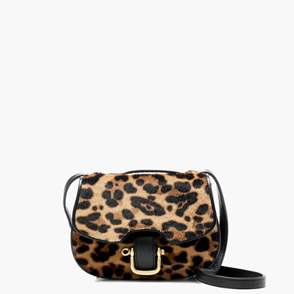 Mini Rider Bag In Italian Calf Hair - predominant colour: camel; secondary colour: black; occasions: casual; type of pattern: heavy; style: messenger; length: across body/long; size: small; material: animal skin; pattern: animal print; finish: plain; multicoloured: multicoloured; season: a/w 2016