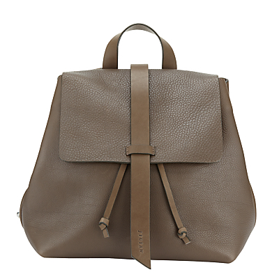 Blake Leather Backpack - predominant colour: taupe; occasions: casual, creative work; type of pattern: standard; style: rucksack; length: rucksack; size: standard; material: leather; pattern: plain; finish: plain; season: a/w 2015; wardrobe: basic
