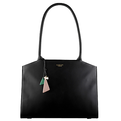 Grafton Leather Large Tote Bag - predominant colour: black; occasions: work, creative work; type of pattern: standard; style: tote; length: handle; size: oversized; material: leather; pattern: plain; finish: plain; wardrobe: investment; season: a/w 2016