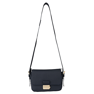 Glendale Presslock Satchel - predominant colour: black; occasions: casual, creative work; type of pattern: standard; style: shoulder; length: across body/long; size: small; material: leather; pattern: plain; finish: plain; wardrobe: investment; season: a/w 2016