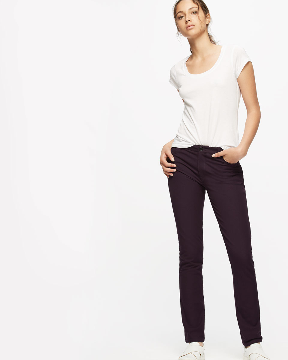 Bi Stretch Jeans - length: standard; pattern: plain; pocket detail: traditional 5 pocket; style: slim leg; waist: mid/regular rise; predominant colour: white; occasions: casual; fibres: cotton - stretch; texture group: denim; pattern type: fabric; season: a/w 2016; wardrobe: highlight
