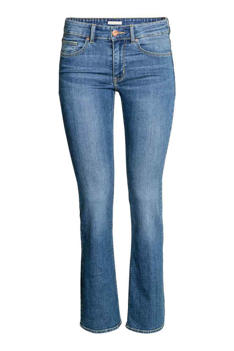 Boot Cut Regular Jeans - style: bootcut; length: standard; pattern: plain; pocket detail: traditional 5 pocket; waist: mid/regular rise; predominant colour: denim; occasions: casual; fibres: cotton - stretch; texture group: denim; pattern type: fabric; wardrobe: basic; season: a/w 2016