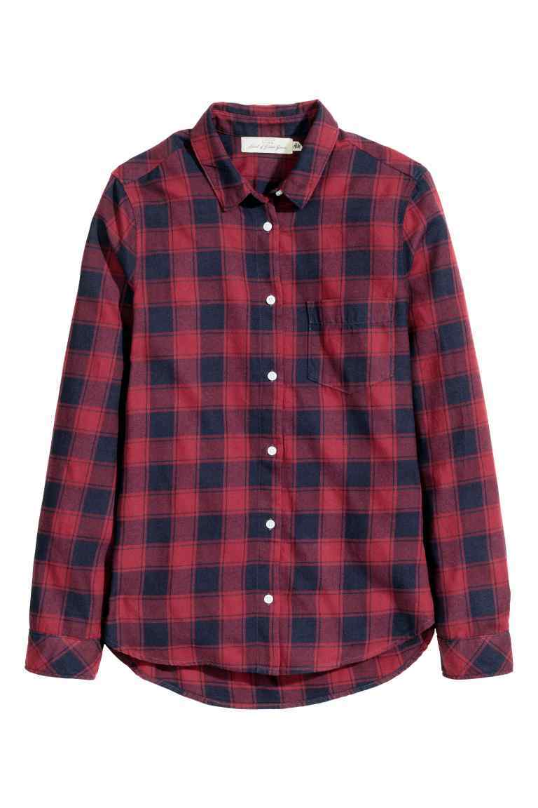 Cotton Shirt - neckline: shirt collar/peter pan/zip with opening; pattern: checked/gingham; style: shirt; predominant colour: true red; secondary colour: navy; occasions: casual; length: standard; fibres: cotton - 100%; fit: body skimming; sleeve length: long sleeve; sleeve style: standard; texture group: cotton feel fabrics; pattern type: fabric; multicoloured: multicoloured; season: a/w 2016; wardrobe: highlight