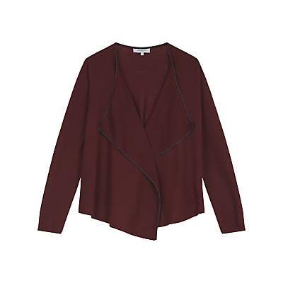 Bricklane Jumper, Dark Red - neckline: v-neck; pattern: plain; style: standard; predominant colour: burgundy; occasions: casual; length: standard; fibres: wool - 100%; fit: loose; sleeve length: long sleeve; sleeve style: standard; texture group: knits/crochet; pattern type: knitted - other; season: a/w 2016; wardrobe: highlight