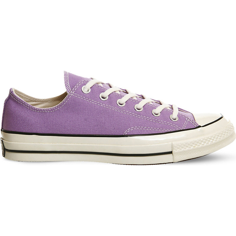 All Star Ox 70's Low Tops, Women's, Frozen Lilac - predominant colour: lilac; occasions: casual; material: fabric; heel height: flat; toe: round toe; style: trainers; finish: plain; pattern: plain; season: a/w 2016; wardrobe: highlight