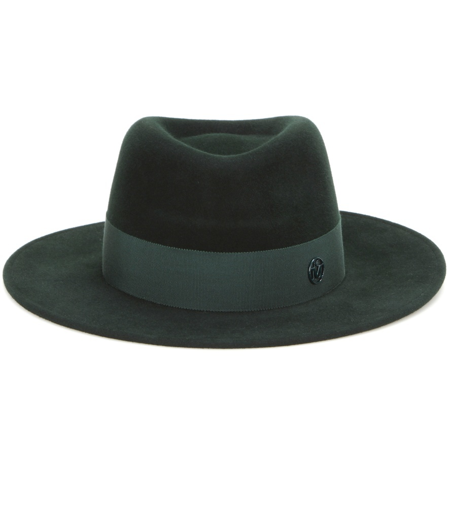 Thadee Felt Hat - predominant colour: dark green; occasions: casual; type of pattern: light; style: fedora; size: standard; material: felt; pattern: plain; season: a/w 2016; wardrobe: highlight
